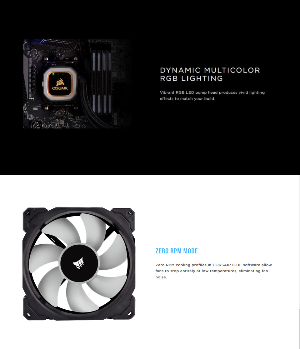 Corsair iCUE H115i RGB Pro XT 280mm AIO CPU Cooler features 2