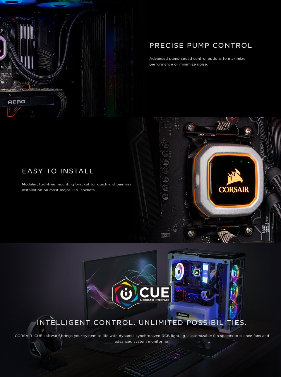 Corsair iCUE H115i RGB Pro XT 280mm AIO CPU Cooler features 4