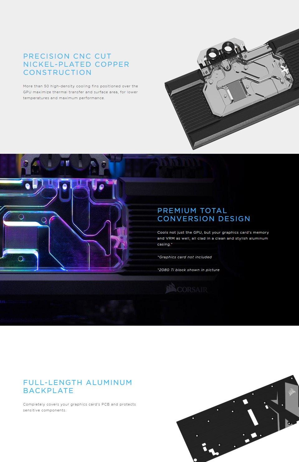 CORSAIR Hydro X Series XG7 RGB RX-SERIES GPU Water Block 5700 XT