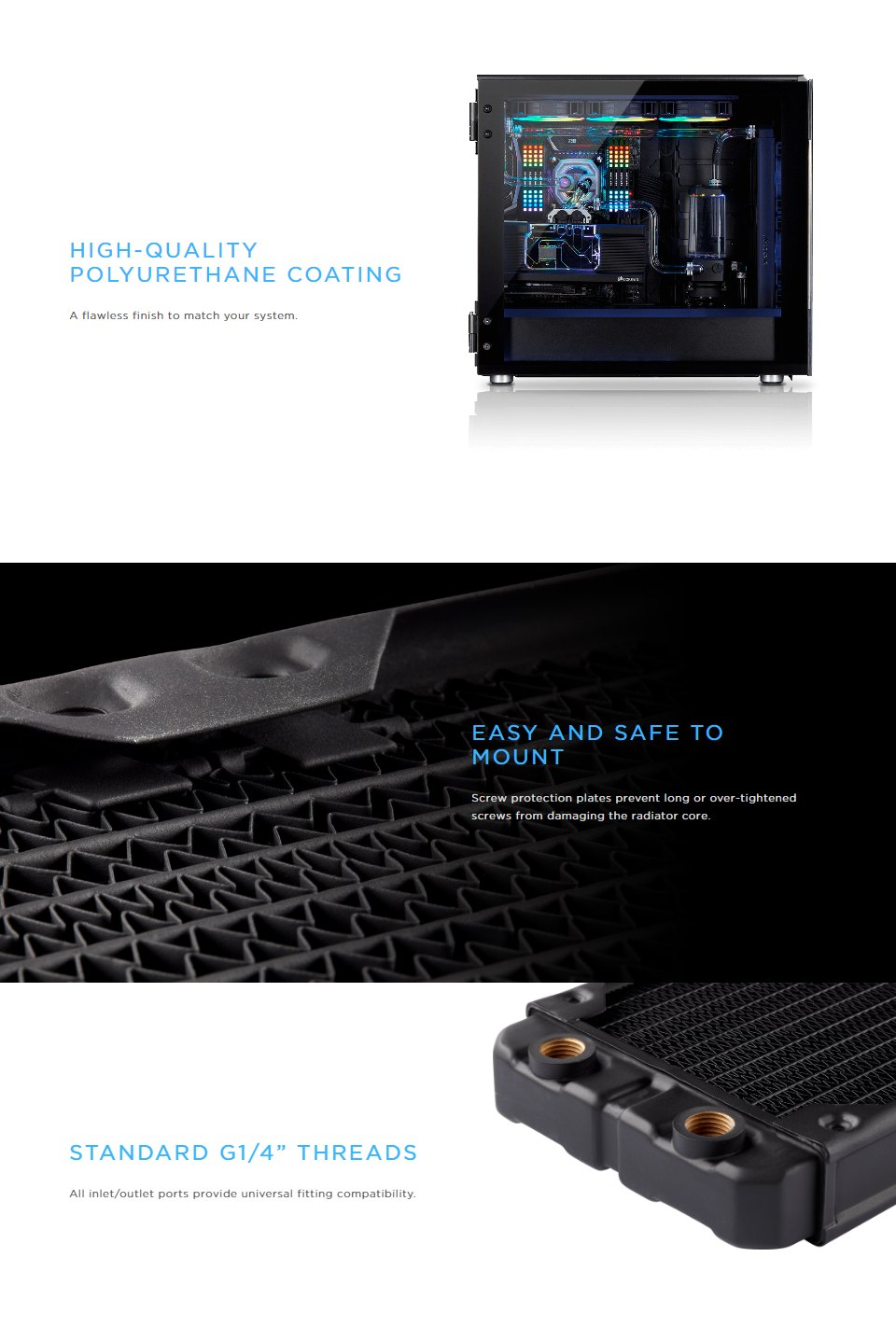 Corsair Hydro X Series XR5 240mm Water Cooling Radiator features 2