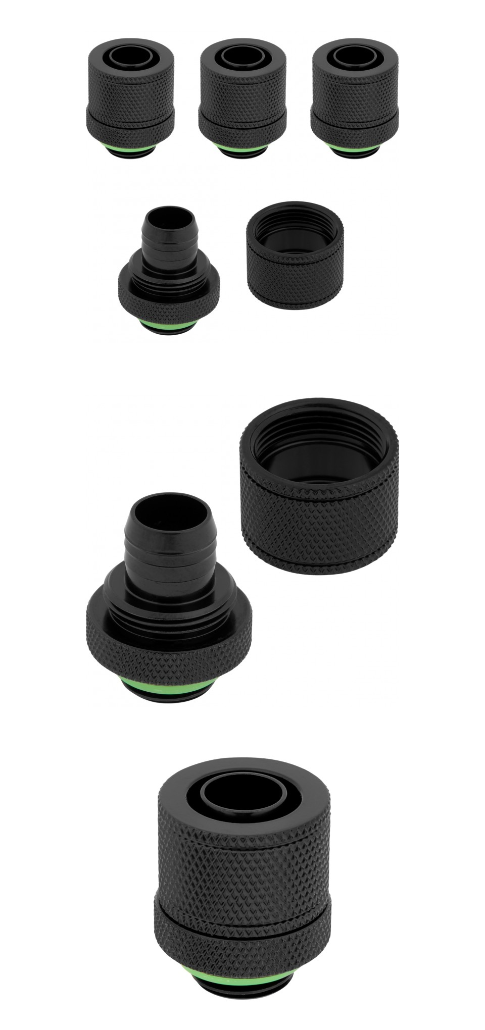 Corsair Hydro X Series XF SL 10/13mm Comp Fittings Black 4 Pack product