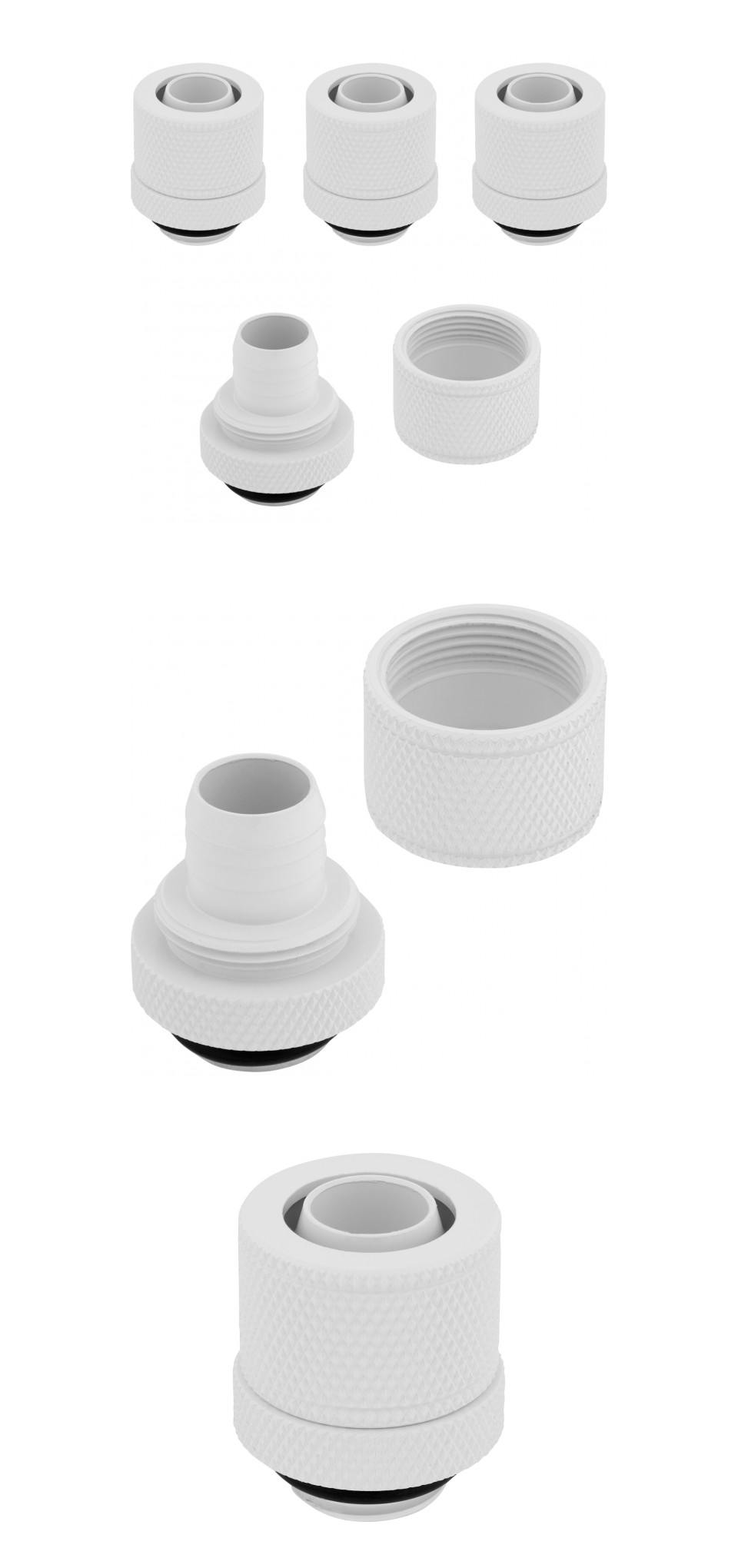 Corsair Hydro X Series XF SL 10/13mm Comp Fittings White 4 Pack product