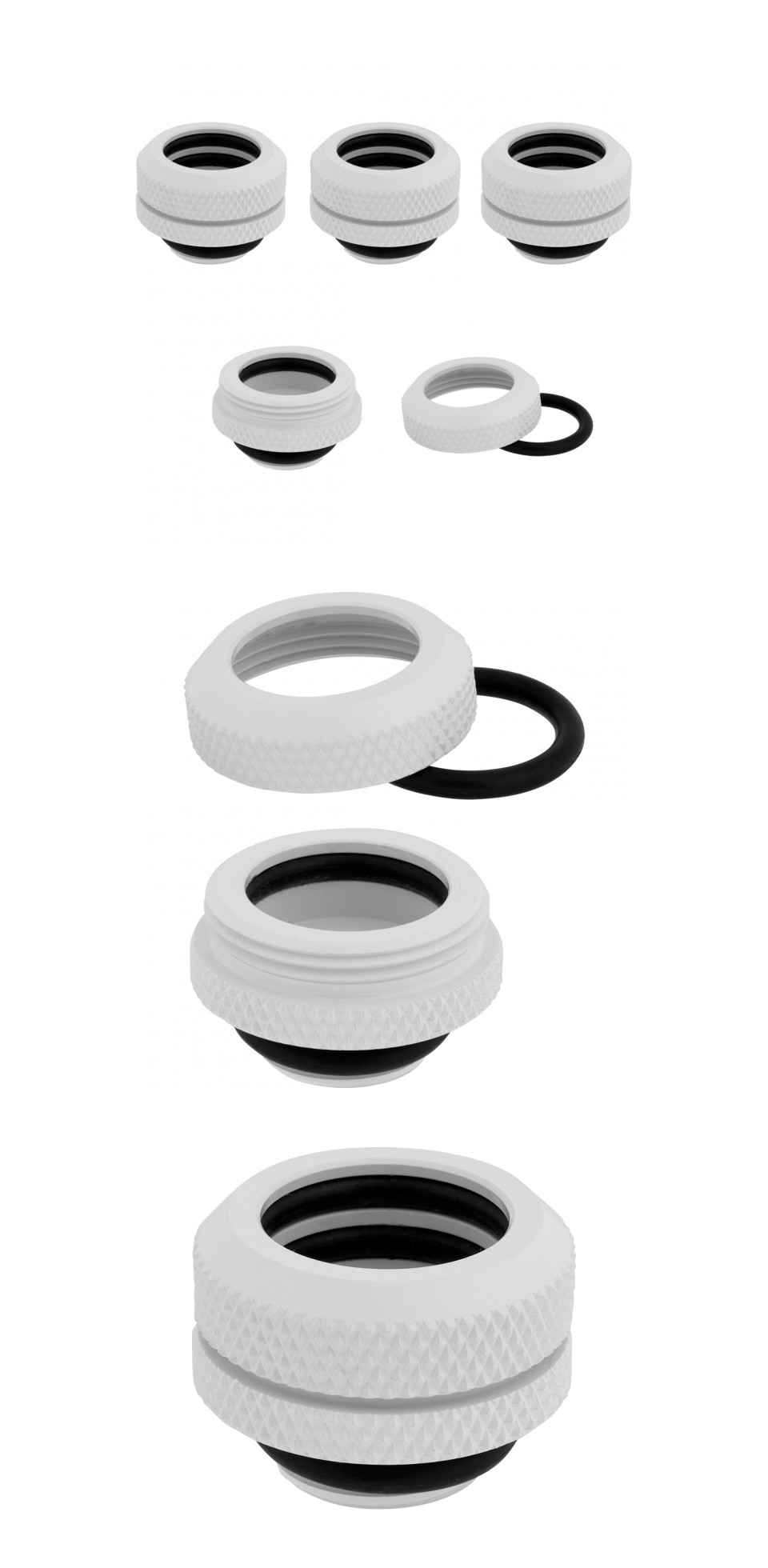 Corsair Hydro X Series XF HL 14mm OD Hard Fittings White 4 Pack product