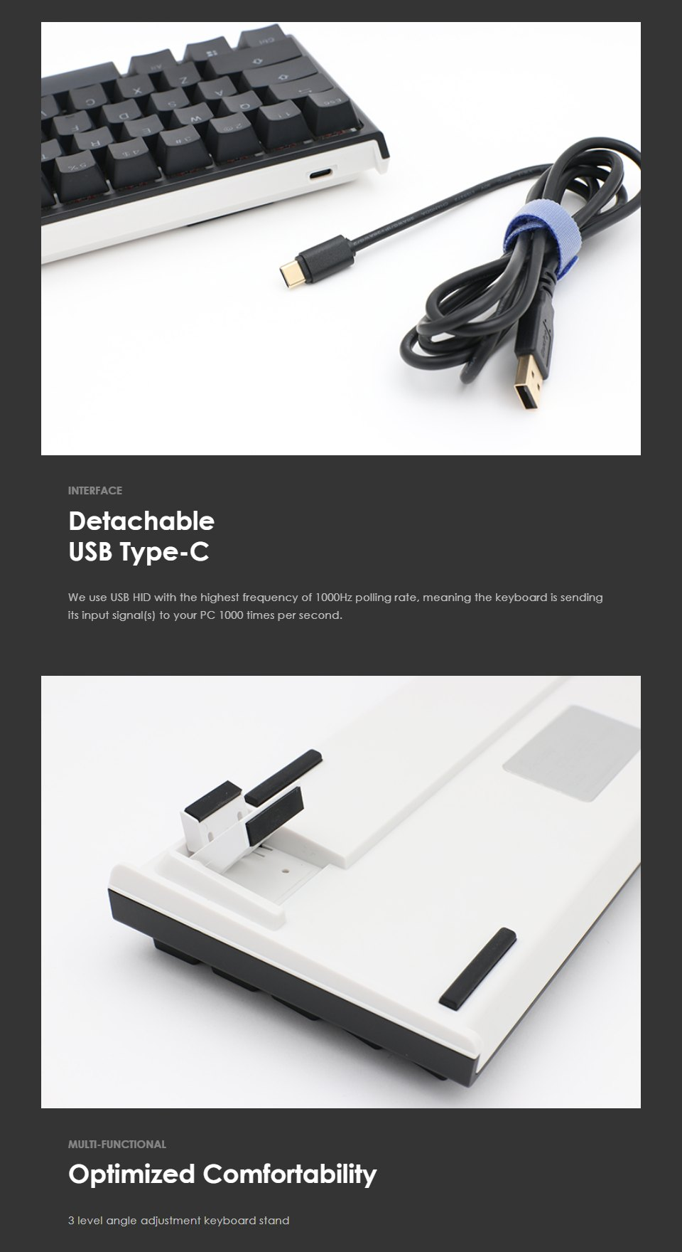 Ducky One 2 Mecha Mini RGB Mechanical Keyboard Blue features 2