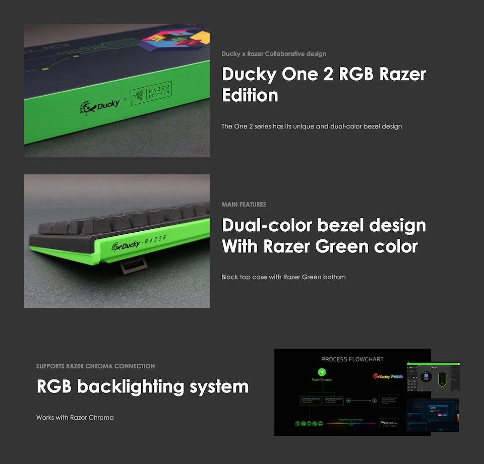 Ducky One 2 Razer Edition RGB Mechanical Keyboard Orange features