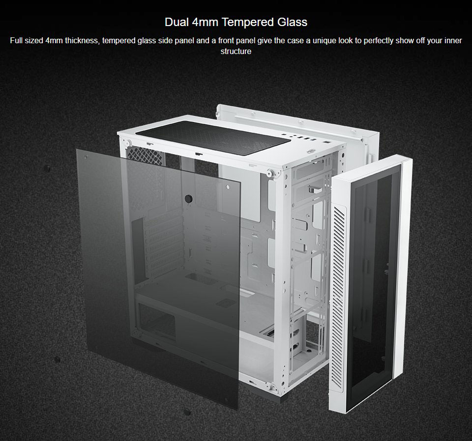Deepcool Matrexx 55 V3 A-RGB Full Tower Case White features 2