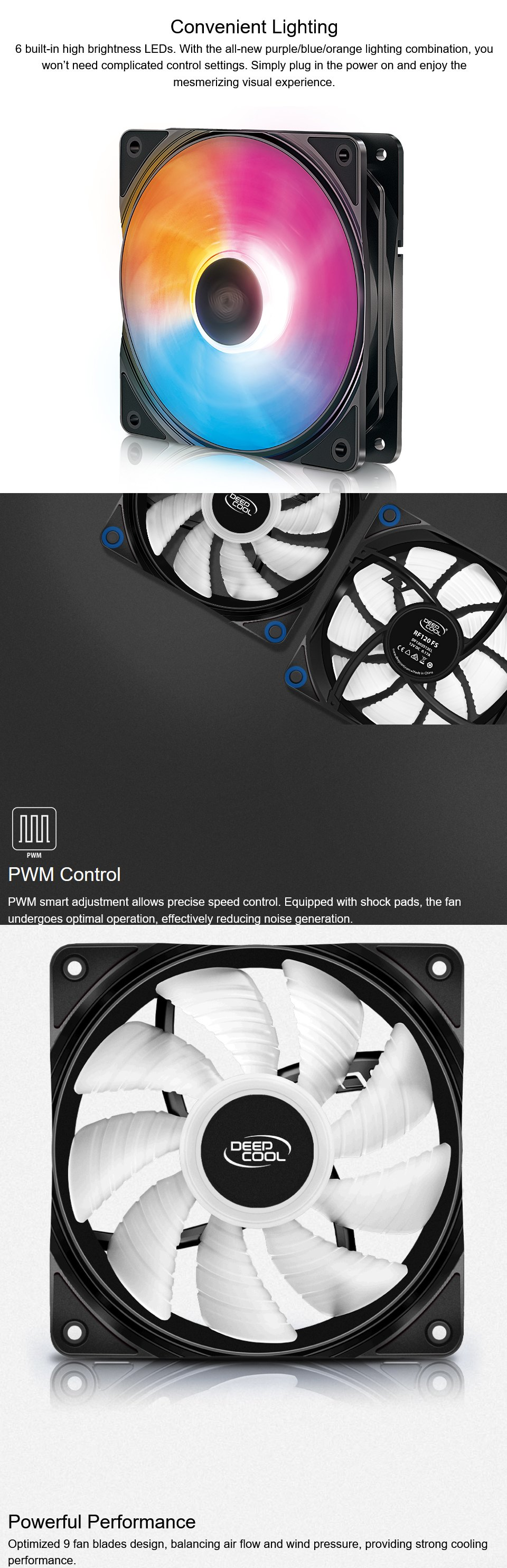 Deepcool RF-120 FS RGB Fan 120mm features