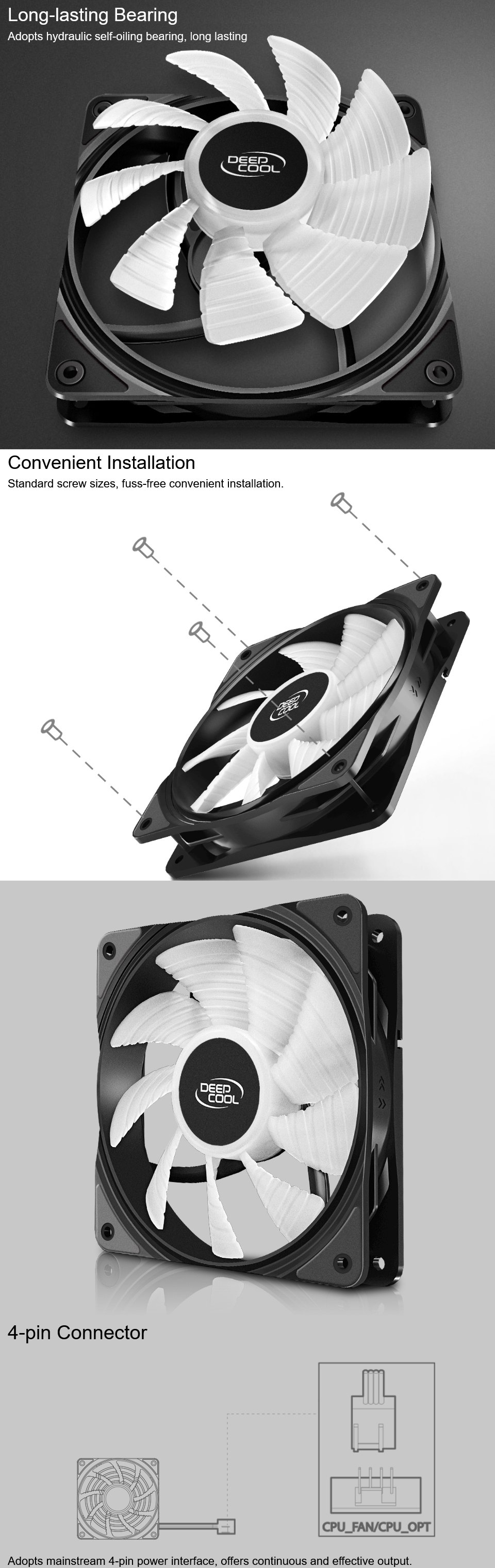 Deepcool RF-120 FS RGB Fan 120mm features 2