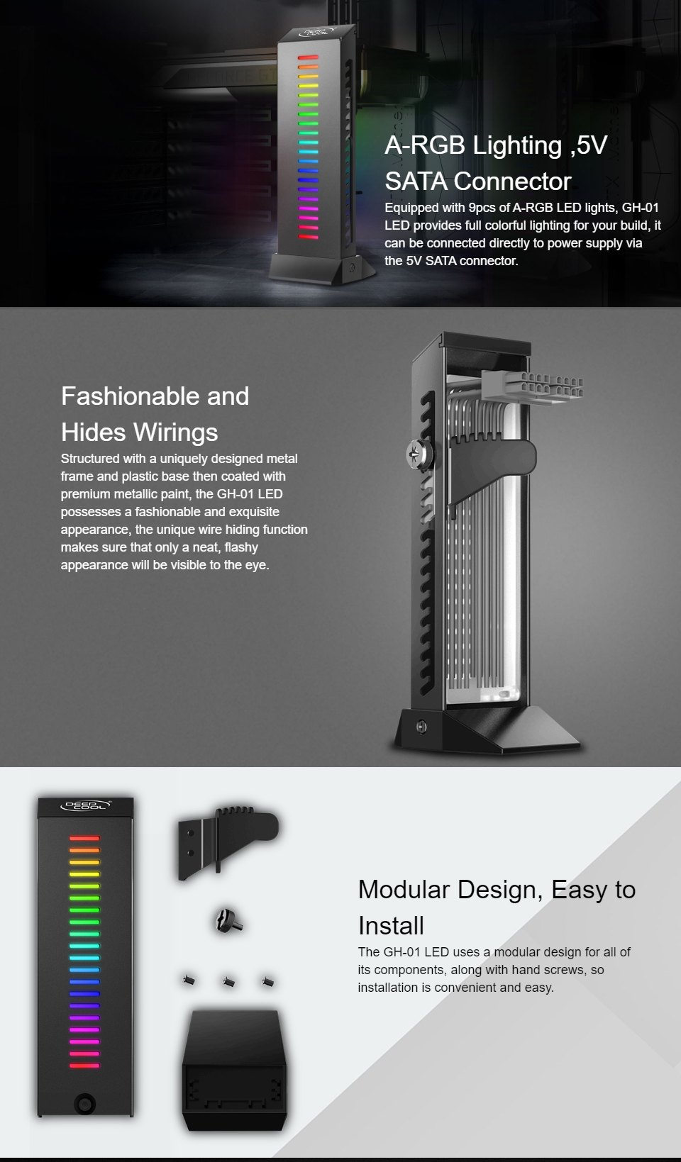Deepcool GH-01 LED GPU Support features