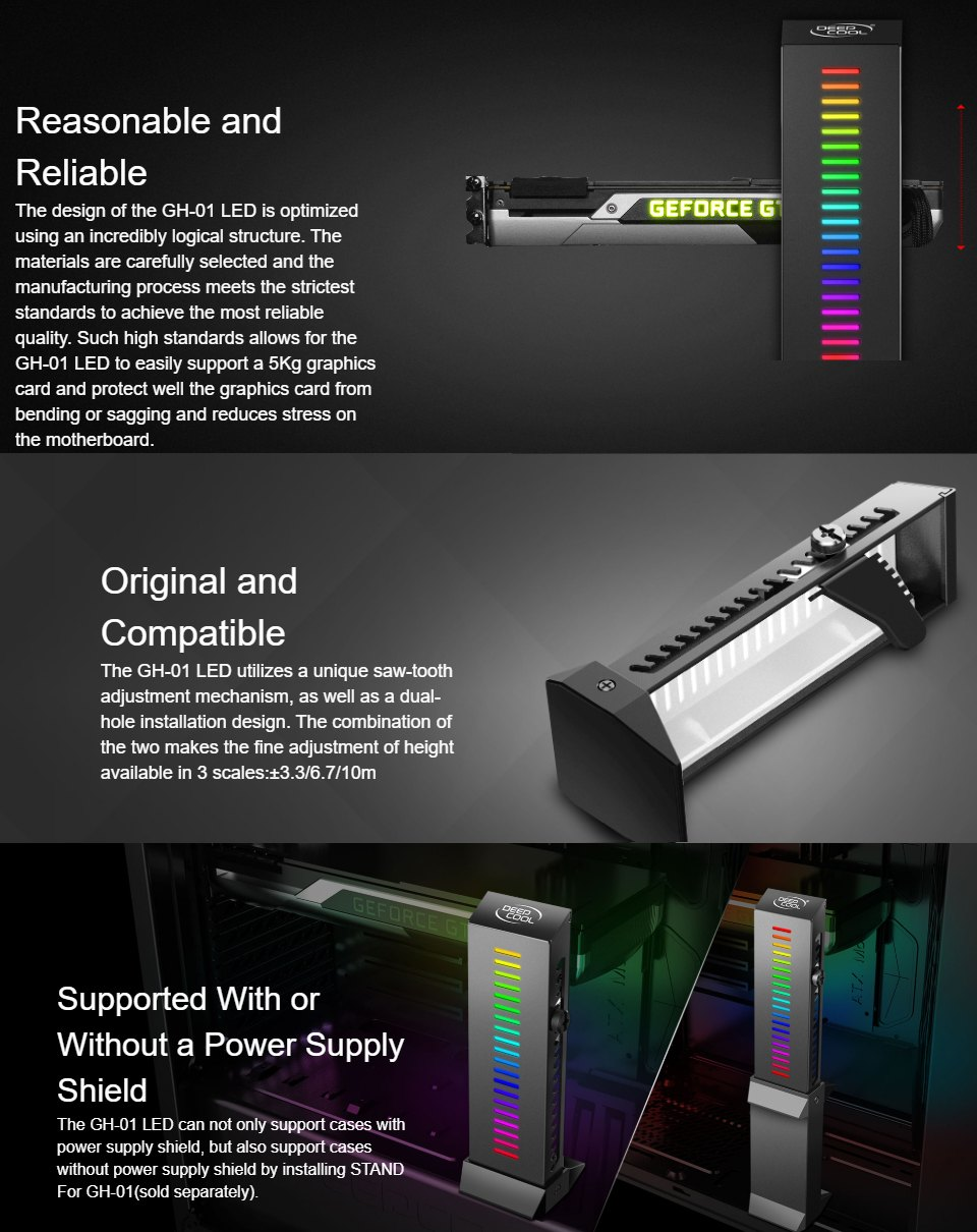 Deepcool GH-01 LED GPU Support features 2