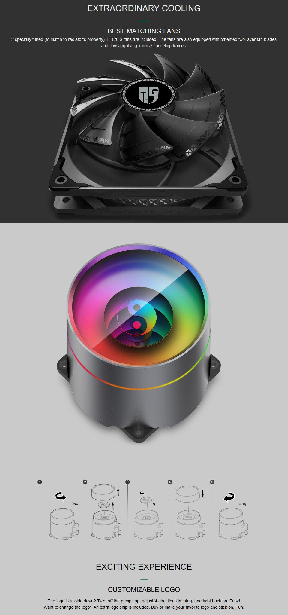 Deepcool Castle 240EX AIO Liquid CPU Cooler features 3