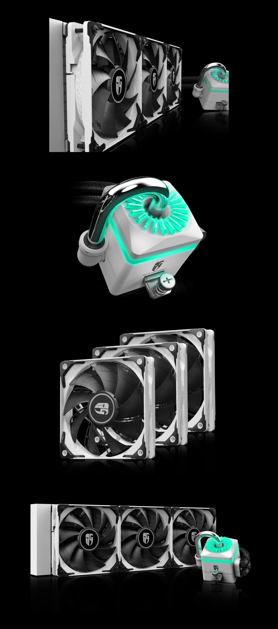 Deepcool Gamer Storm Captain 360X AIO Liquid CPU Cooler White product