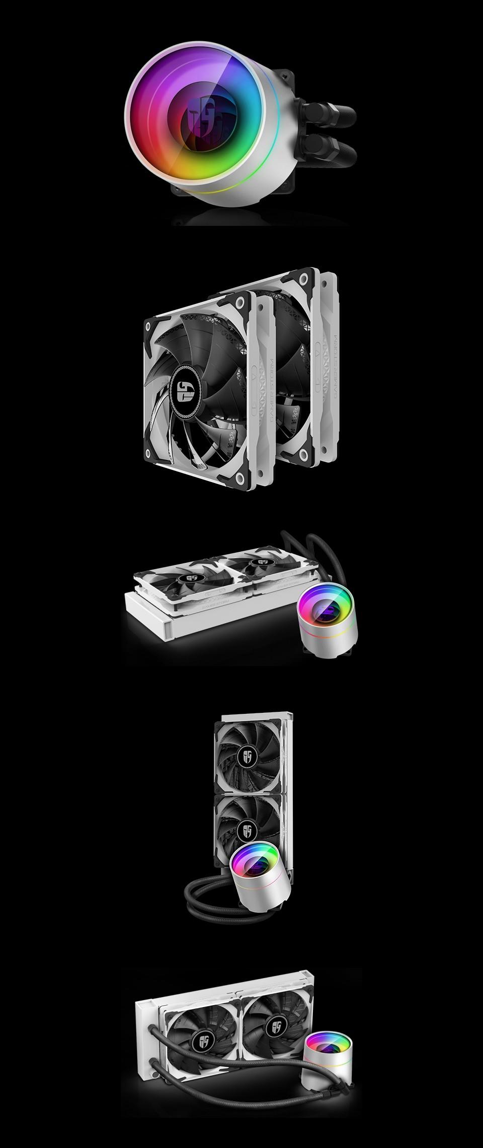 Deepcool Castle 240EX AIO Liquid CPU Cooler White product