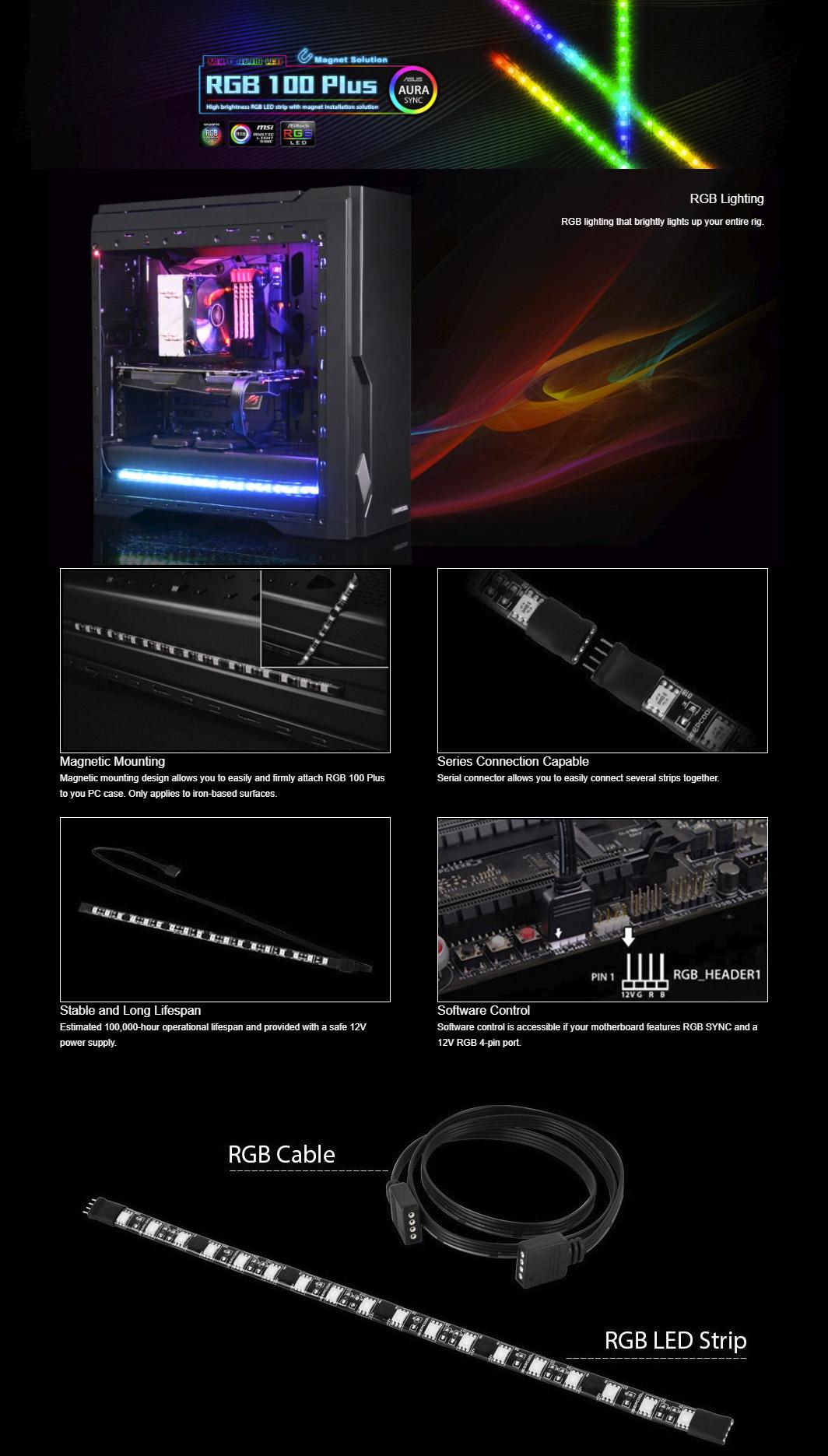 Deepcool RGB 100 Plus - 300mm LED Strip [DP-LED-RGB100PLUS] : PC ...
