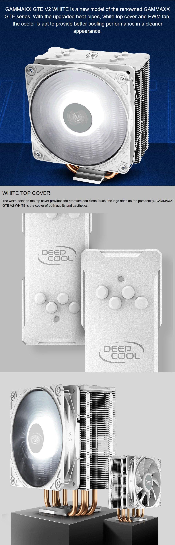 Deepcool Gammaxx GTE V2 White CPU Cooler features