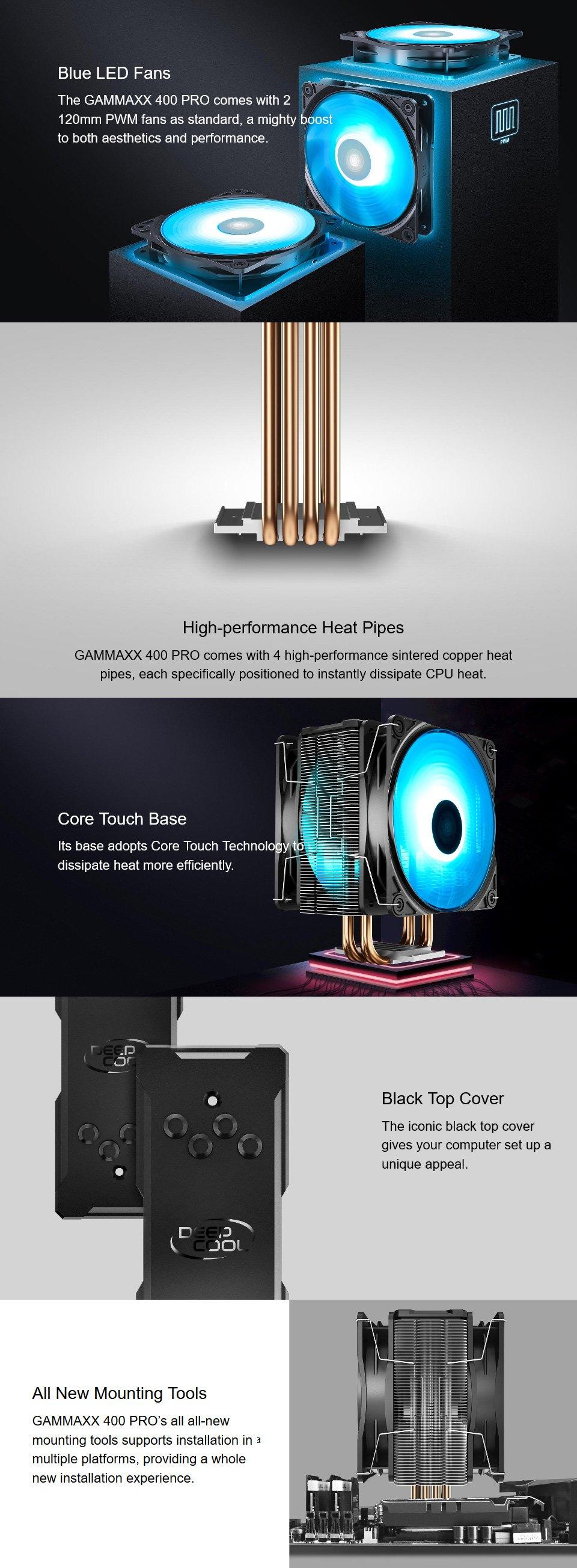 Deepcool Gamer Storm Gammaxx 400 Pro CPU Cooler features