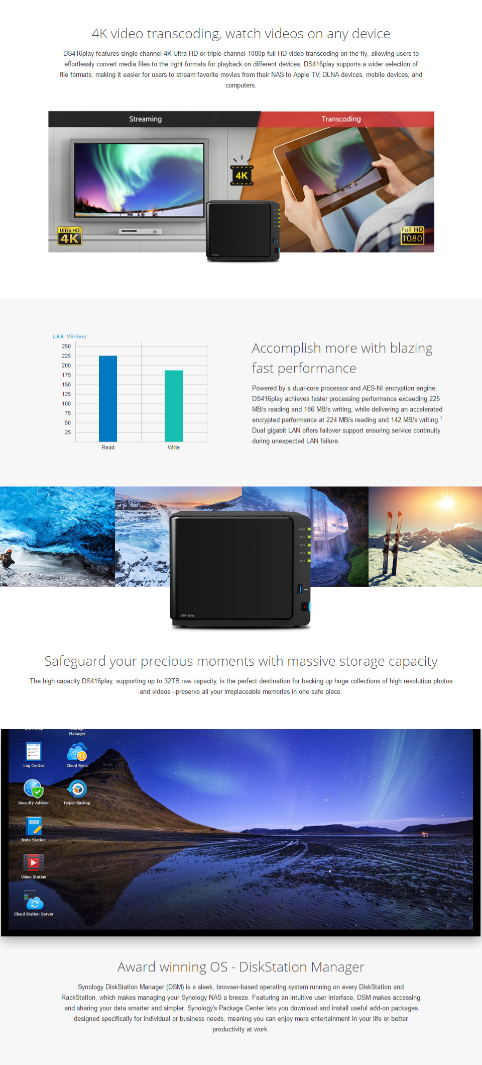 Synology DiskStation DS416play NAS [DS416play] : PC Case Gear