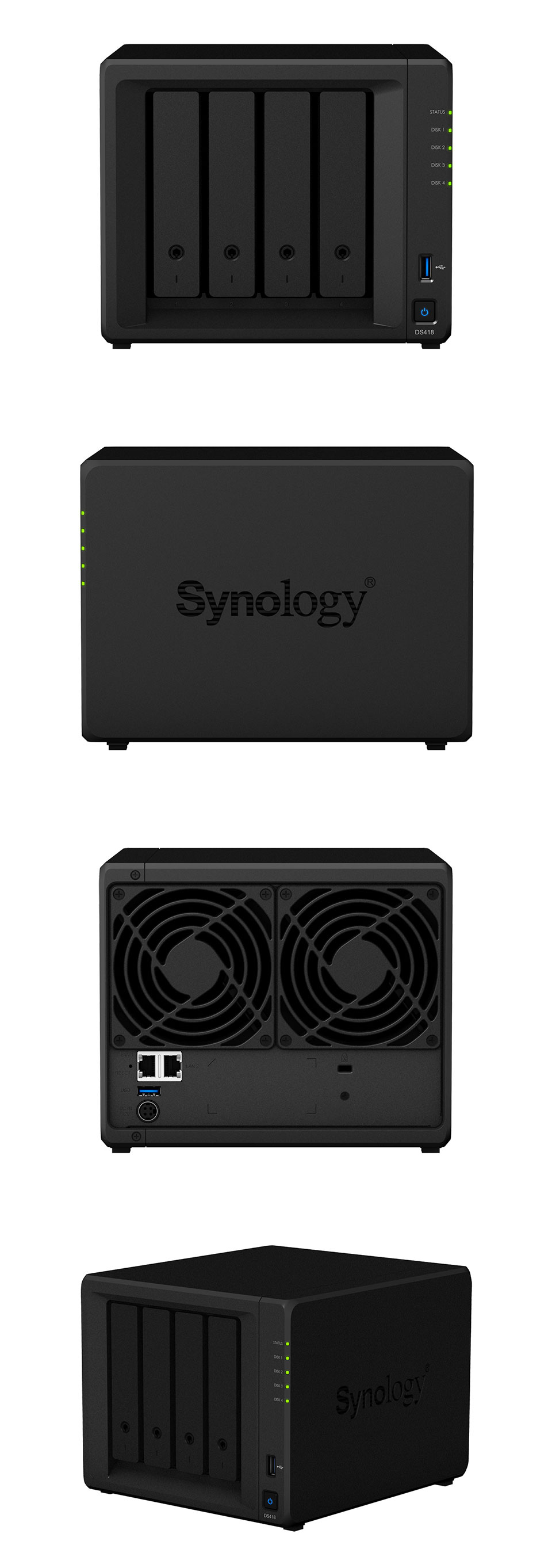 Synology DiskStation DS418 4 Bay NAS with 2GB RAM [DS418