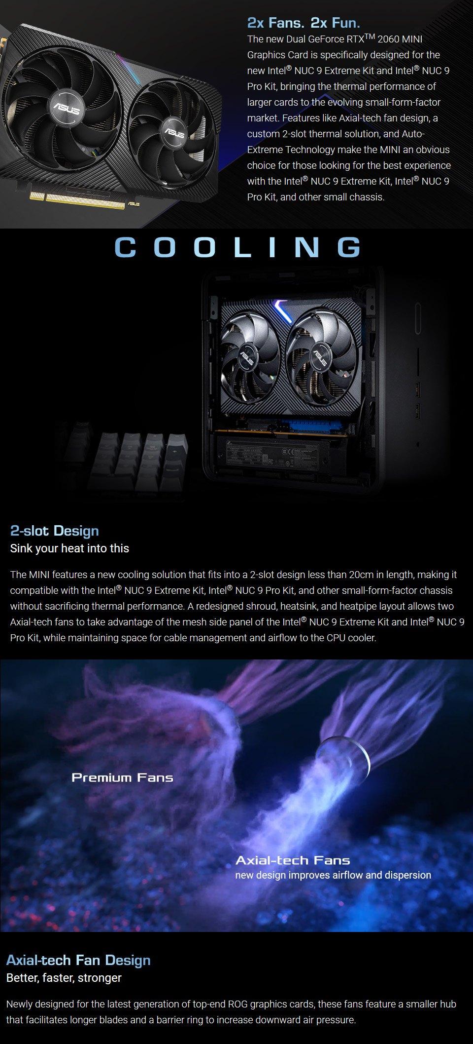 ASUS GeForce RTX 2060 Dual OC Mini 6GB features