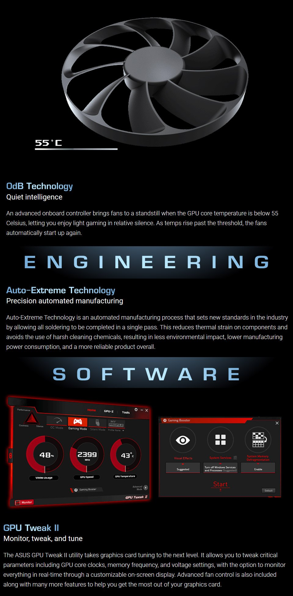 ASUS GeForce RTX 2060 Dual OC Mini 6GB features 2