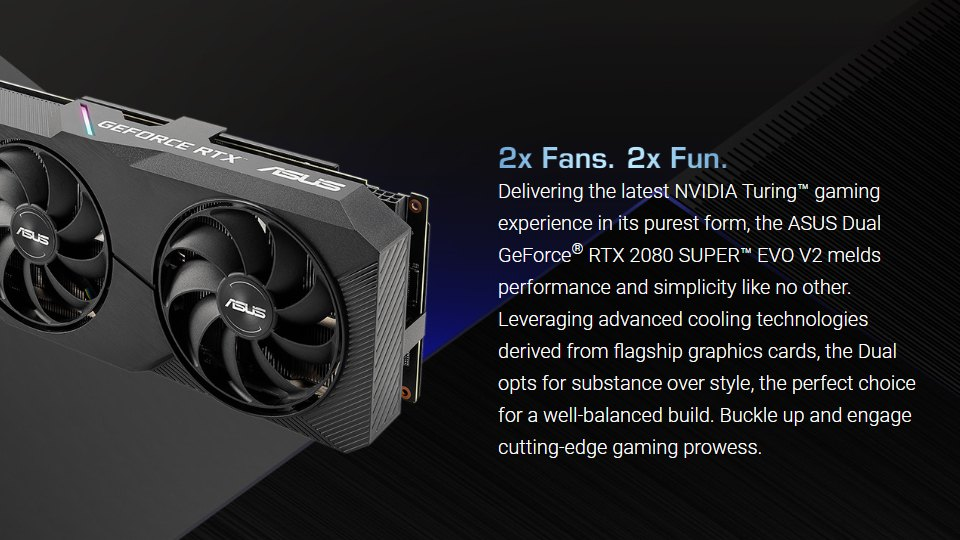 ASUS GeForce RTX 2080 Super Dual OC EVO 8GB V2 features