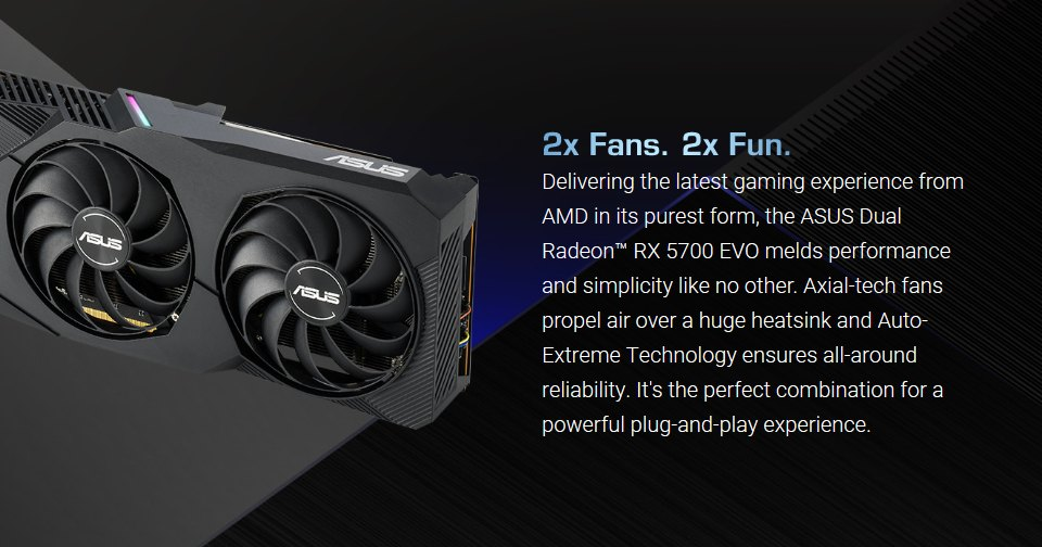 ASUS Radeon RX 5700 Dual EVO OC 8GB features