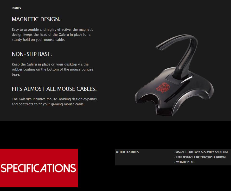 118c5e2151e Tt eSPORTS Galeru Mouse Bungee [EAC-MSB001] : PC Case Gear