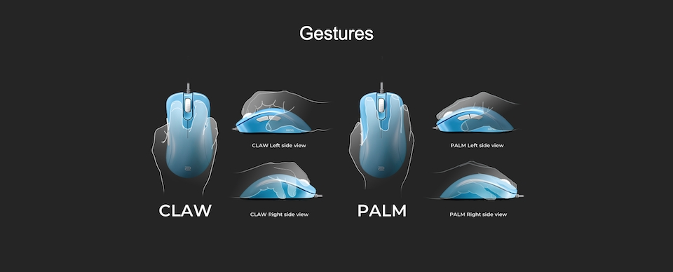 Zowie EC1-B Gaming Mouse Divina Blue features 2