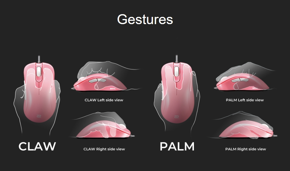 Zowie EC1-B Gaming Mouse Divina Pink features