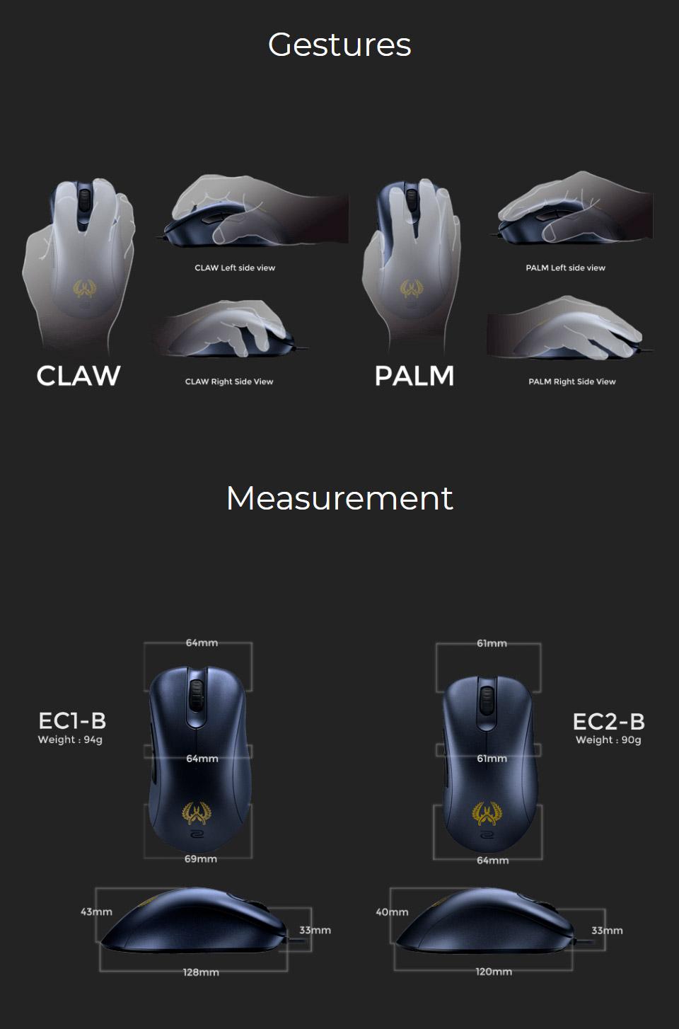 Zowie ec2 b gaming mouse cs go edition ec2 b csgo pc for Cs go mouse