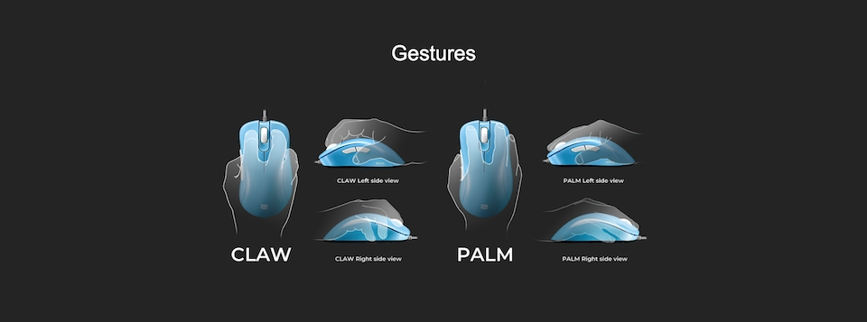 Zowie EC2-B Gaming Mouse Divina Blue features