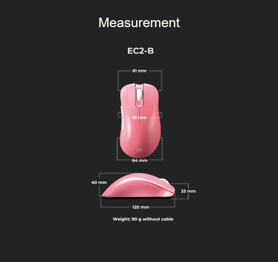 Zowie EC2-B Gaming Mouse Divina Pink features 2