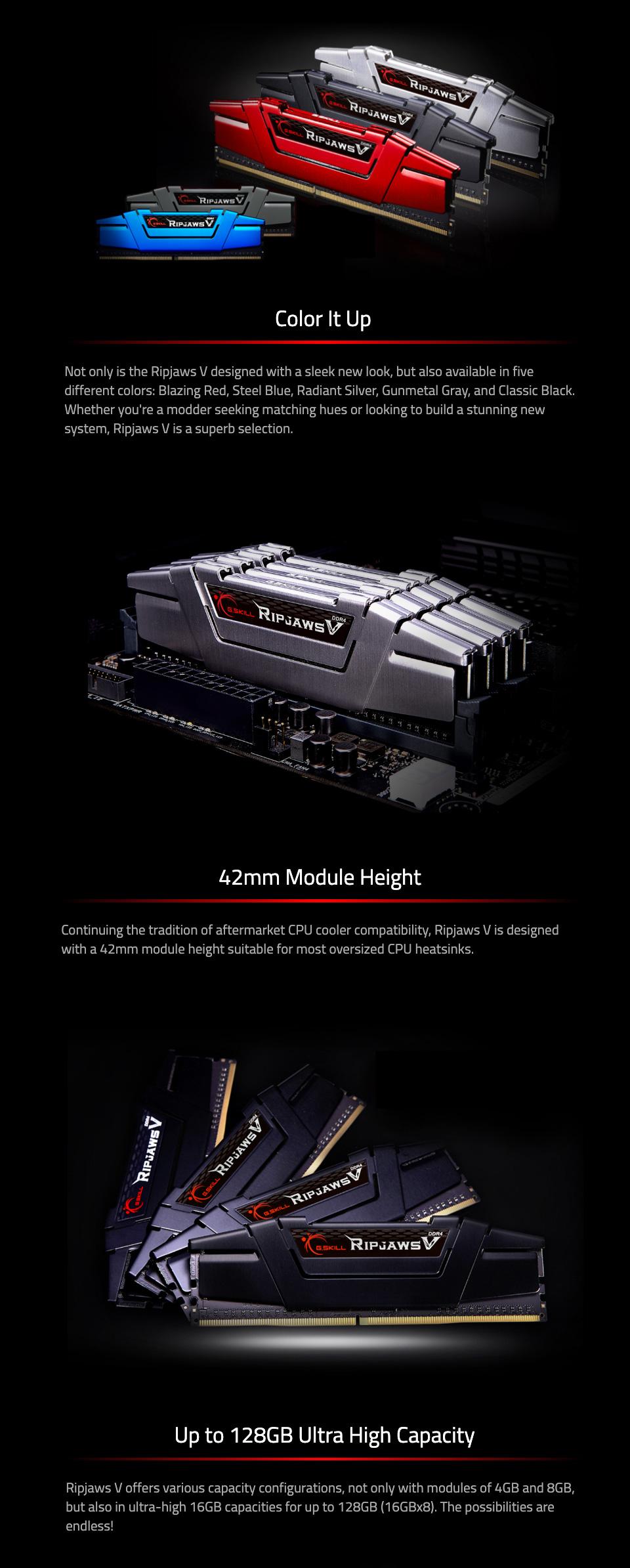 G.Skill Ripjaws V F4-3200C14Q-32GVK 32GB (4x8GB) DDR4 features 2