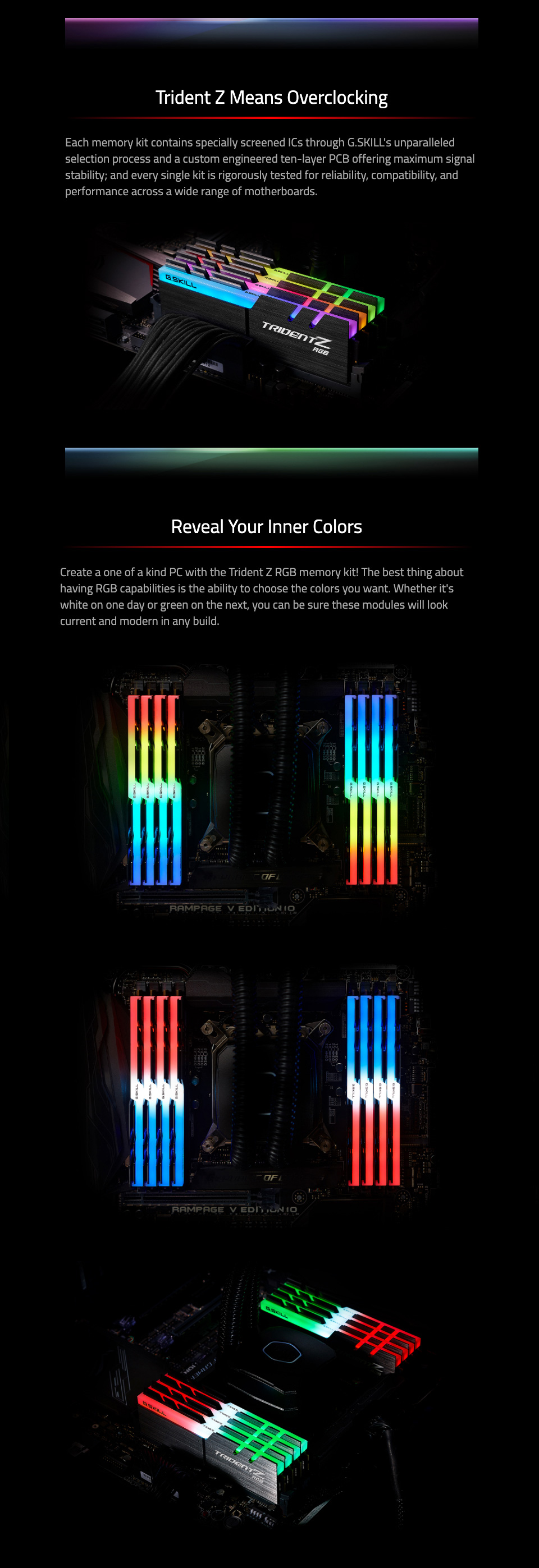 G.Skill Trident Z RGB F4-3600C16D-16GTZRC 16GB (2x8GB) DDR4 features 2