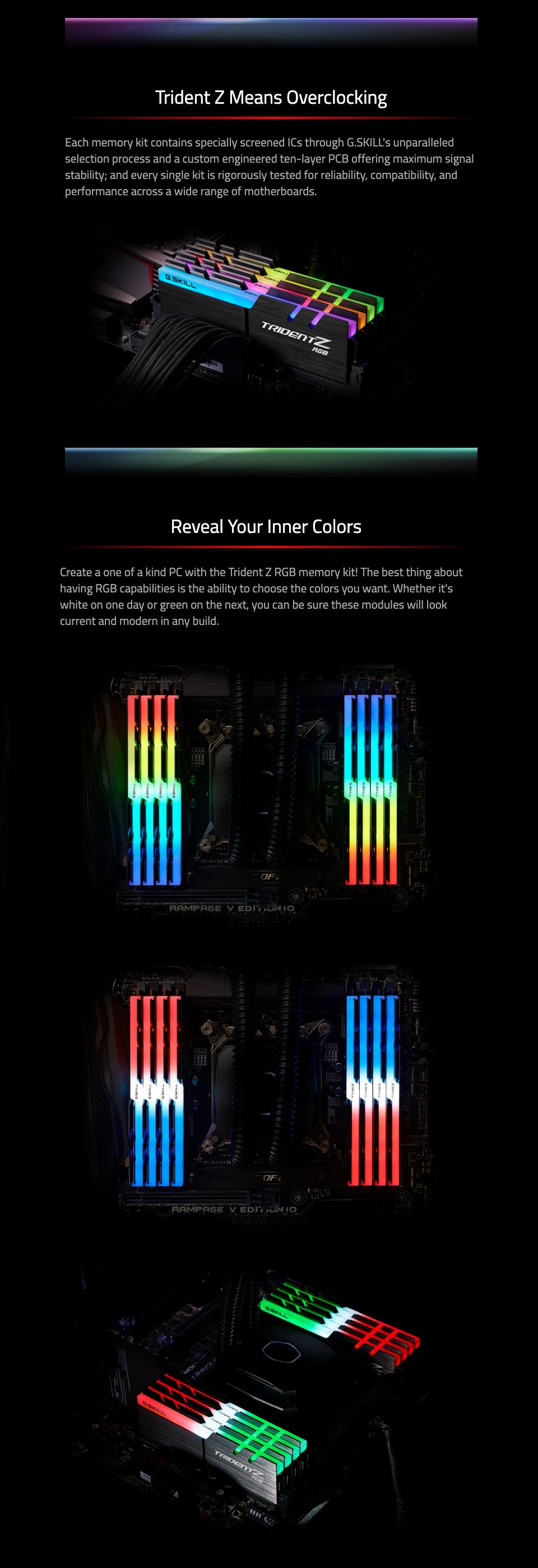 G.Skill Trident Z RGB F4-3600C16Q-32GTZRC 32GB (4x8GB) DDR4 features 2