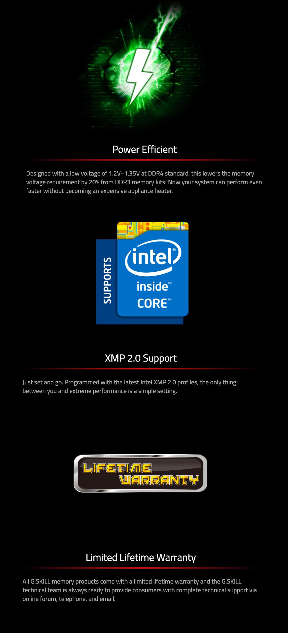 G.Skill Ripjaws V F4-3600C18D-32GVK 32GB (2x16GB) DDR4 features 3
