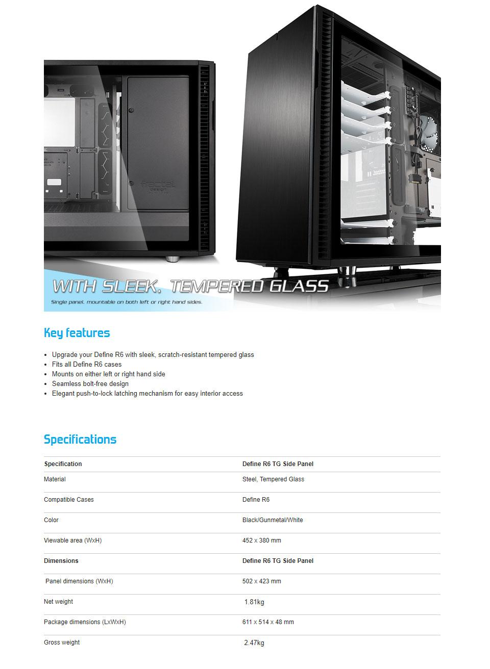 Buy Fractal Design Define R6 Tempered Glass Panel Black Frame Fd Acc Wnd Def R6 Bk Tgl Pc Case Gear Australia,Ontario College Of Art And Design