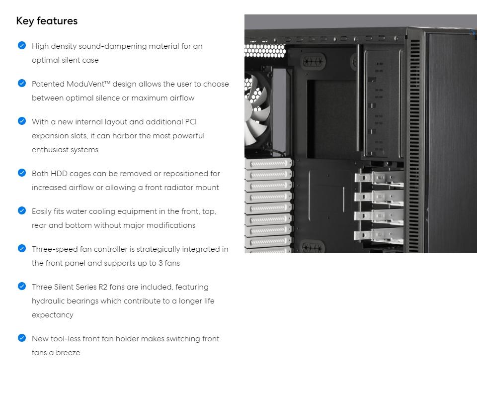 Fractal Design Define XL R2 Case Grey features