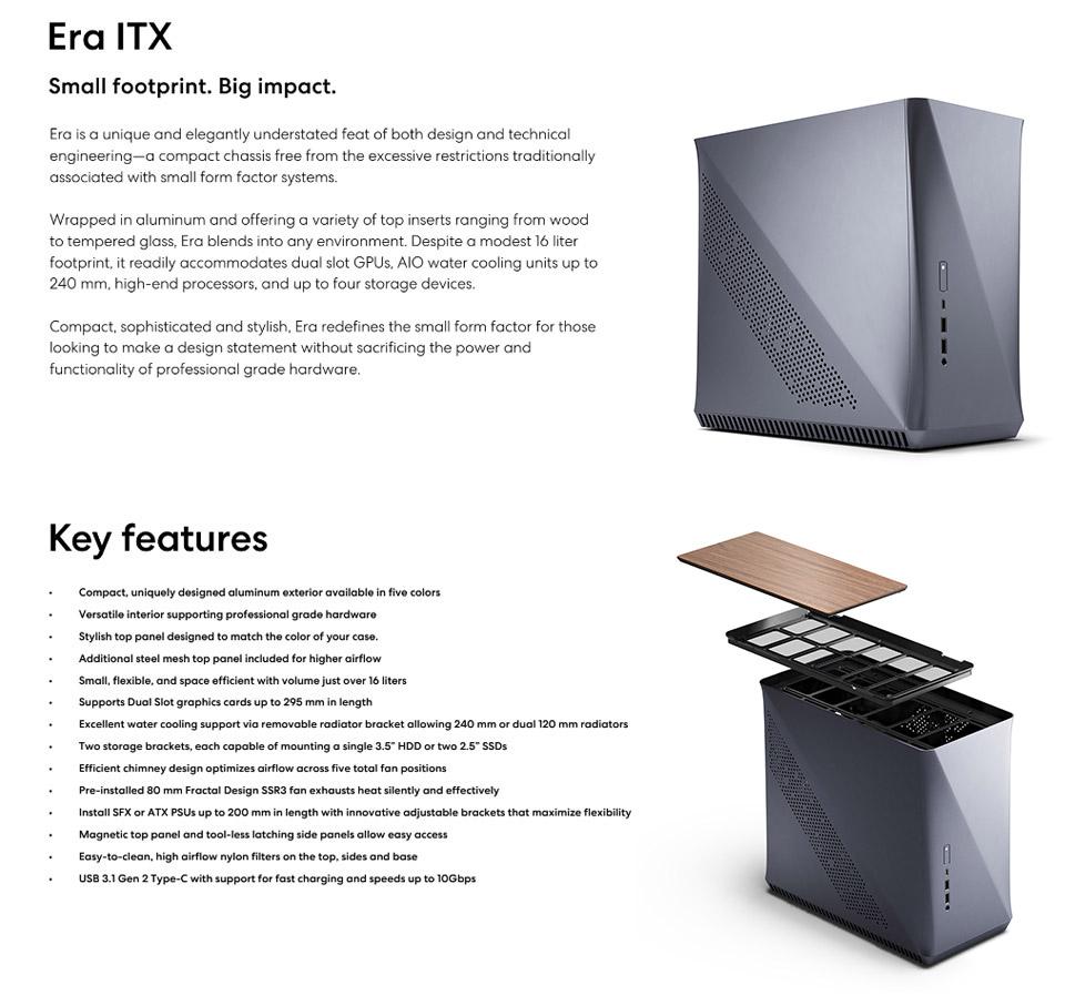 Fractal Design Era ITX Case Titanium features