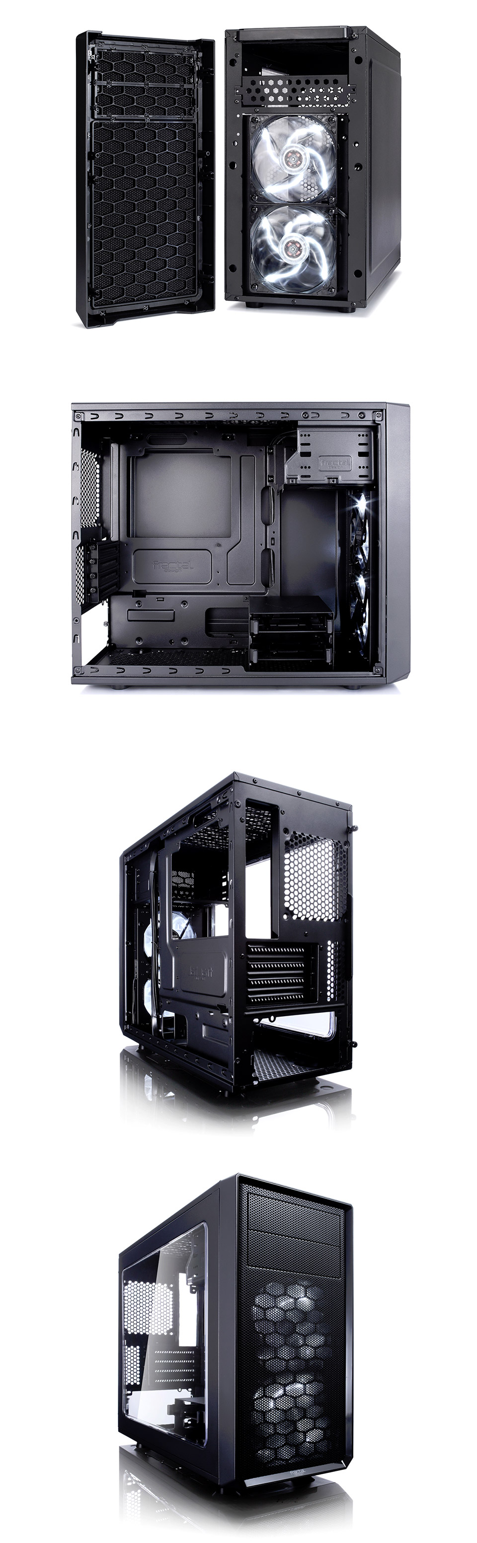 Fractal Design Focus G Mini Case With Window Black Fd Ca Wiring Computer Fans In Series Edge To Visibility Clean Contemporary Styling And Two Silent Led The Makes Your Hardware Centre Of Attention