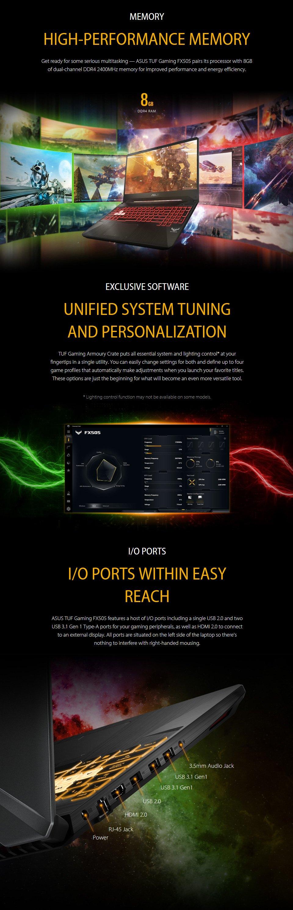 ASUS TUF AMD Ryzen 5 GeForce GTX 1650 15.6in Notebook features 4