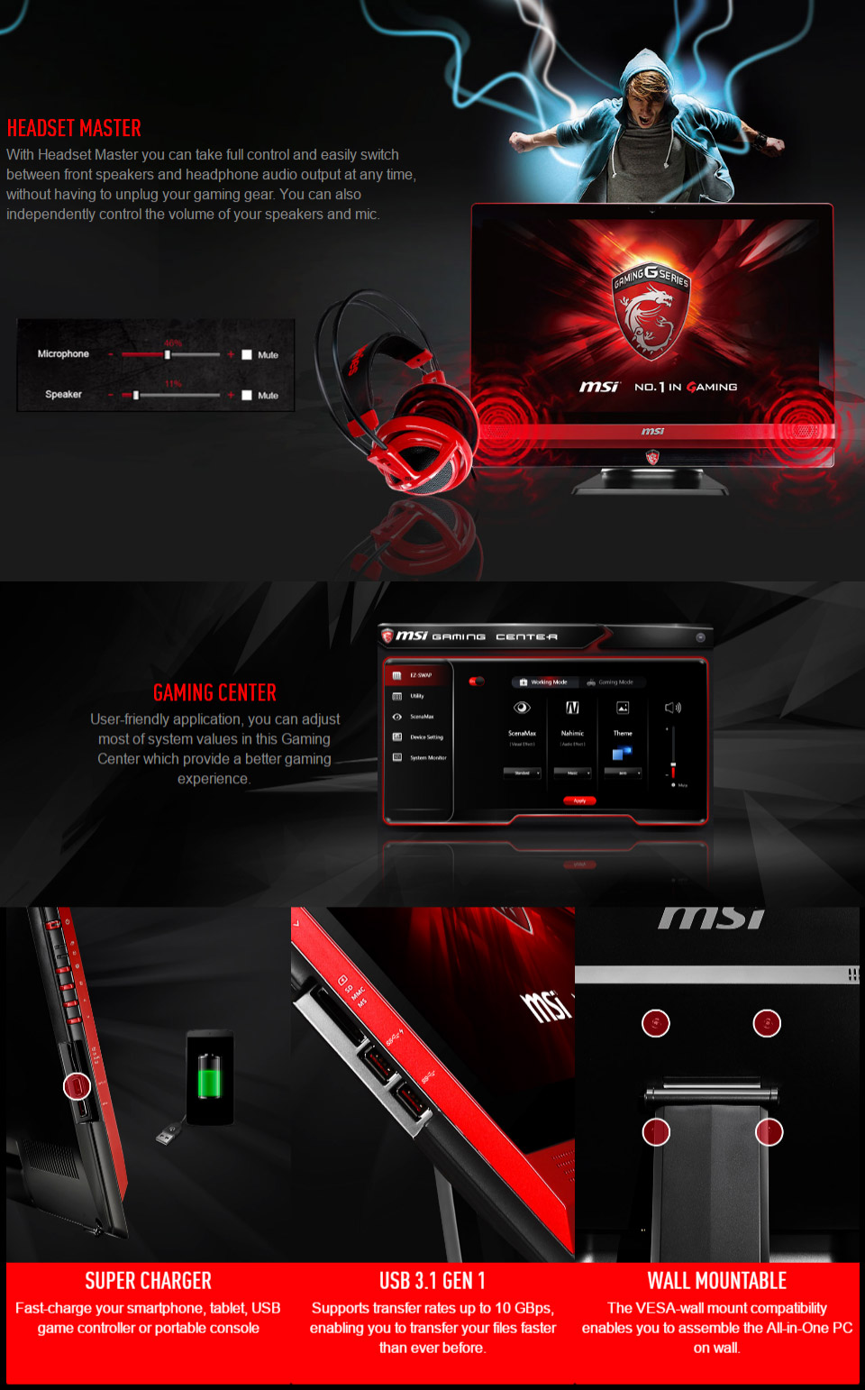 MSI AG240 24in Core i7 Windows 10 AIO Gaming PC [6QE-035AU] [G24-6QE