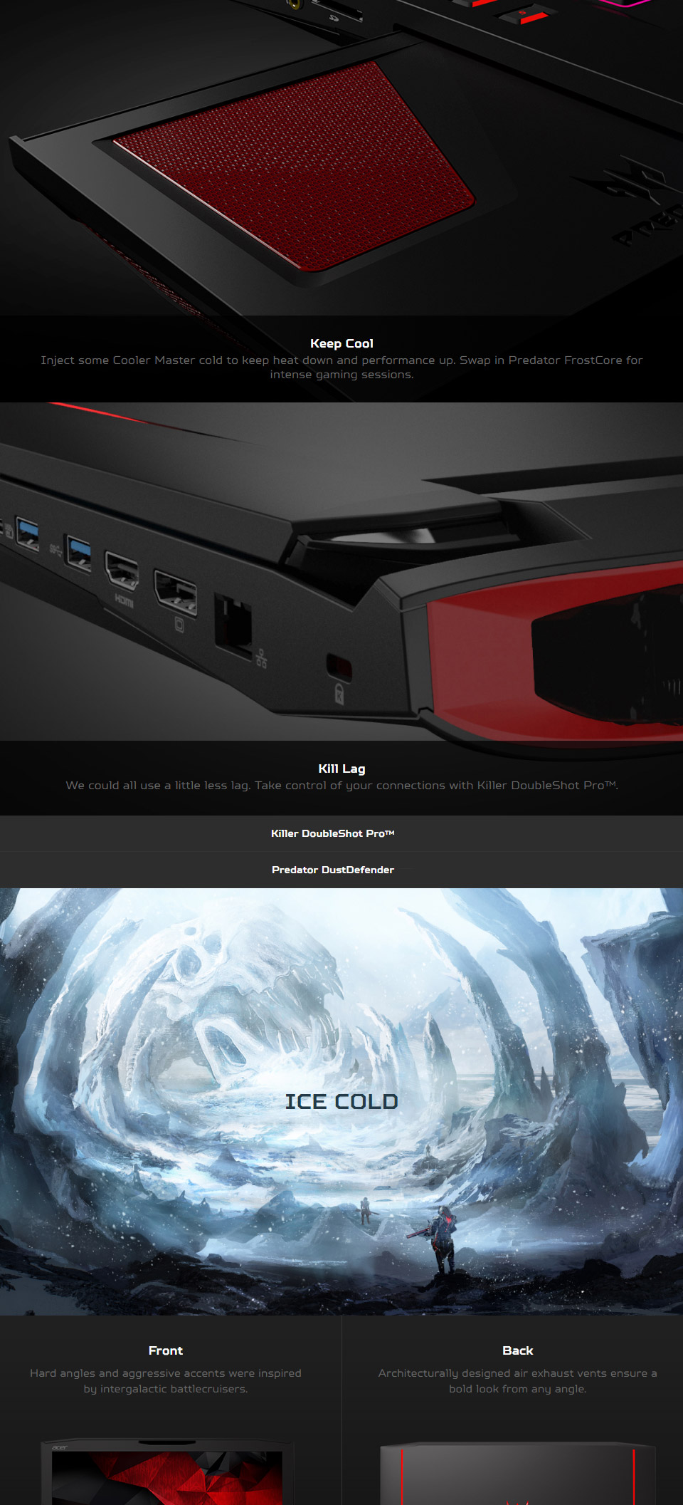 Acer Predator 17 Core I7 173in Gaming Notebook G9 793 75ds 32gb Ddr4 Memory Nvidia Geforce Gtx 1070 8gb Graphics 256gb Solid State Drive 2tb Hard Full Hd 1920x1080 Ips Display Gigabit Lan