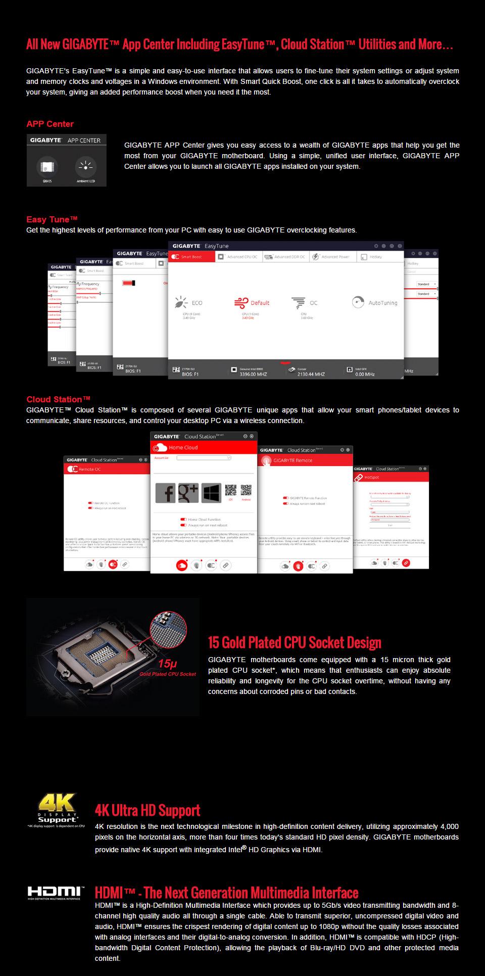 Gigabyte Z170X Gaming 3 Motherboard [GA-Z170X-GAMING-3] : PC Case Gear