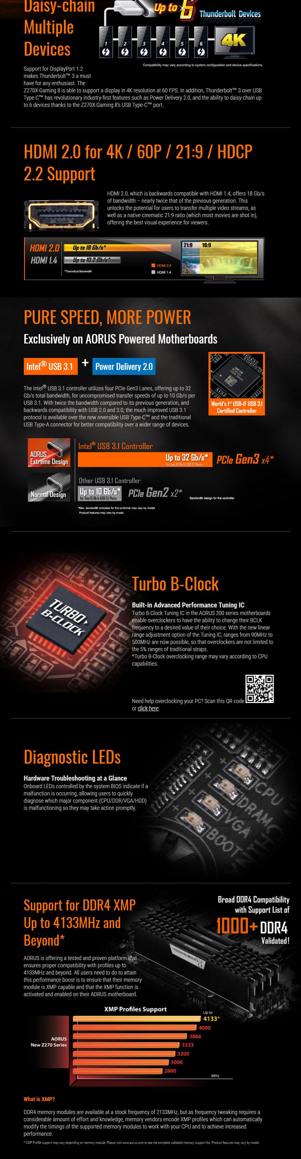 Gigabyte AORUS Z270X-Gaming 8 Motherboard [GA-Z270X-GAMING-8