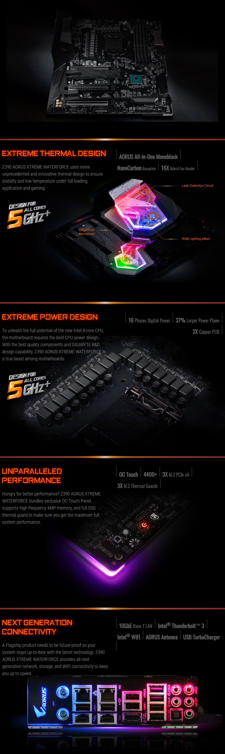 Gigabyte Z390 AORUS Xtreme Waterforce Motherboard [GA-Z390-AORUS