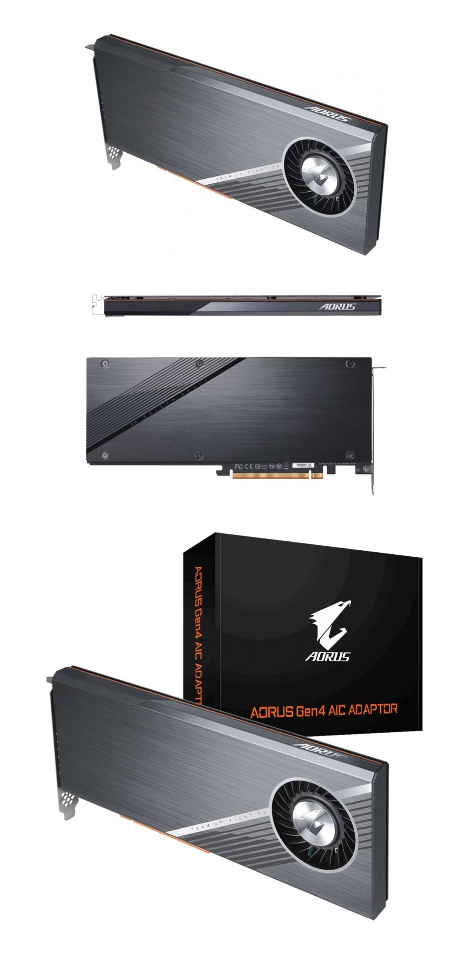 Gigabyte AORUS Gen4 PCIe 4x M.2 NVME Adaptor Card product