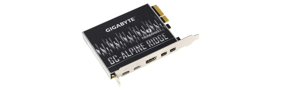 Gigabyte Alpine Ridge V2 Dual Thunderbolt 3 PCIe Card product
