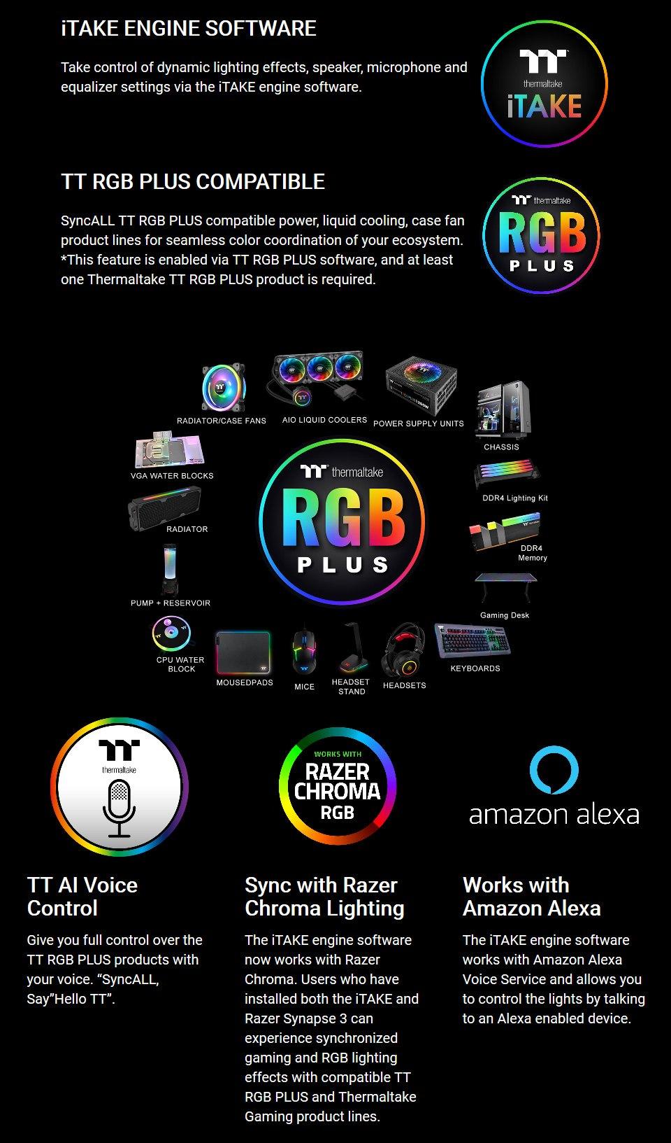 Thermaltake RIING Pro RGB 7.1 Surround Gaming Headset features 3