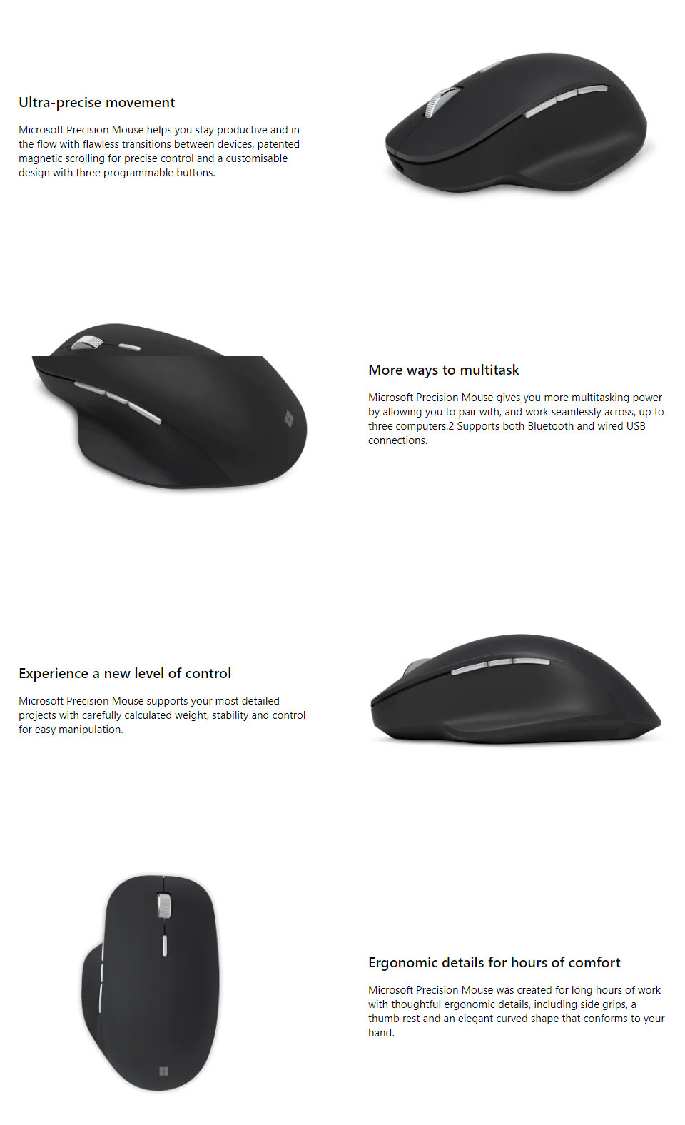 2d1d4232a5d Designed for exceptional accuracy, comfort, and control, the new Microsoft  Precision Mouse helps you stay in your flow with flawless scrolling, ...